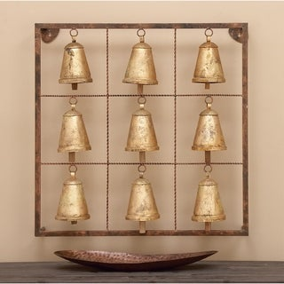 32-inch Farmhouse Inspired Distressed Hanging Cowbell Wall Decor