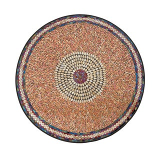 36-inch Global Inspired Iron Mosaic Wall Platter
