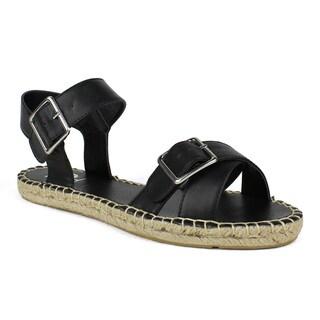Fahrenheit Women's Jeana-03 Criss-cross Women's Flat Espadrille Sandal