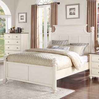 Giavanna Off-white Traditional Platform Bed