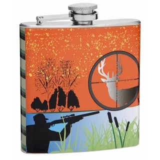 Top Shelf Flasks 6-ounce Hunting Enthusiast Hip Flask