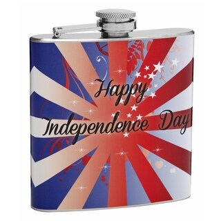 Top Shelf Flasks 6-ounce 'Happy Independence Day' Hip Flask