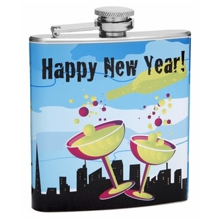 Top Shelf Flasks 6-ounce Happy New Year Champagne Flask