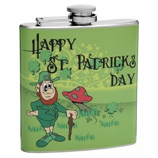 Top Shelf Flasks 6-ounce St. Patrick's Day Hip Flask