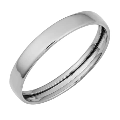 Fremada 14k White Gold High Polish 3-mm Band Ring