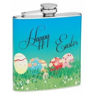Top Shelf Flasks Easter Theme 6-ounce Hip Flask
