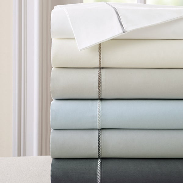 Amraupur Overseas 400 Thread Count 100-percent Cotton 4-piece Sheet Set with Rope Hemstiching