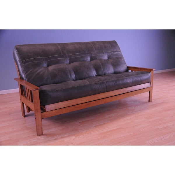 Shop Somette Monterey Honey Oak Full Size Futon Set Free