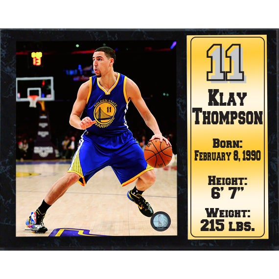 Klay Thompson Golden State Warriors 12-inch x 15-inch Stat Plaque