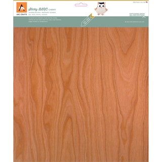 BARC Wood Sheet W/Adhesive Backing 12inX12in Cherry