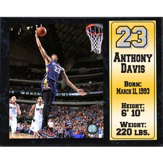 Anthony Davis New Orleans Pelicans 12-inch x 15-inch Stat Plaque