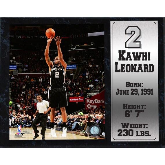 super popular 0044c 69266 Kawhi Leonard San Antonio Spurs 12-inch x 15-inch Stat Plaque