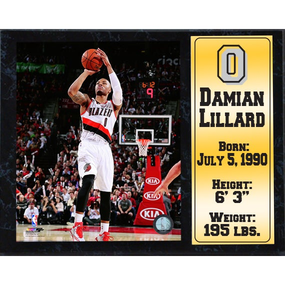 e4602ce34 Shop Damian Lillard Portland Trail Blazers 12-inch x 15-inch Stat Plaque -  On Sale - Free Shipping On Orders Over  45 - Overstock - 10290028