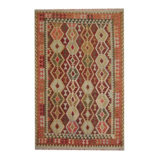 Herat Oriental Afghan Hand-woven Tribal Vegetable Dye Kilim Rust/ Red Wool Rug (6'8 x 10'1)