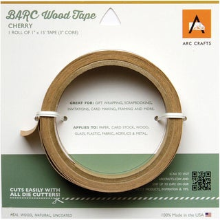 Barc Wood Adhesive Tape 1inX15' Cherry
