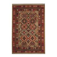 Handmade Herat Oriental Afghan Vegetable Dye Tribal Wool Kilim  - 6'8 x 9'11 (Afghanistan)