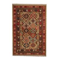 Handmade Herat Oriental Afghan Vegetable Dye Tribal Wool Kilim (Afghanistan) - 6'8 x 9'9