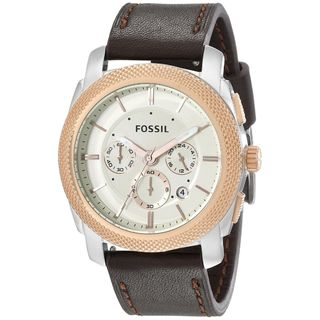 Fossil Men's 'Machine' Chronograph Brown Leather Watch