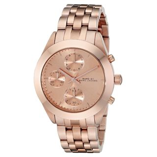 Marc Jacobs Women's MBM3394 'Peeker' Chronograph Rose-Tone Stainless Steel Watch