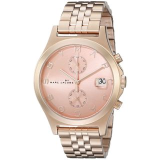 Marc Jacobs Women's MBM3384 'Fergus' Chronograph Rose-Tone Stainless Steel Watch
