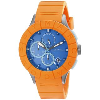 Marc Jacobs Women's MBM5545 'Buzz Track' Orange Silicone Watch