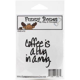 Riley & Company Funny Bones Cling Mounted Stamp 2inX2.25in Coffee Is A Hug