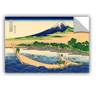 ArtAppealz Katsushika Hokusai 'A Fishing Boat With Mt Fuji' Removable Wall Art