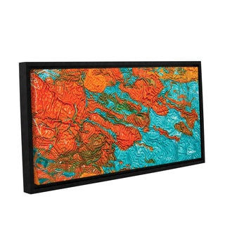 ArtWall Byron May 'Jamaica Memories' Gallery-wrapped Floater-framed Canvas