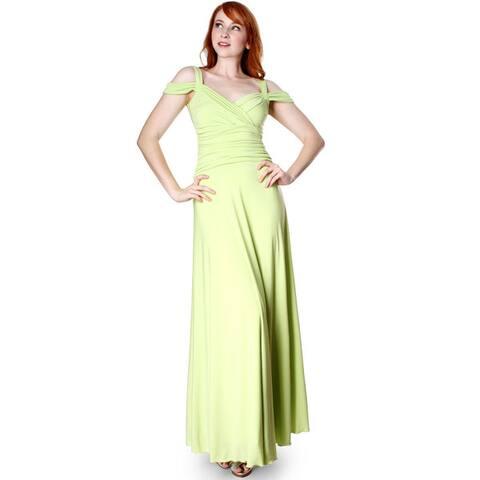 Evanese Women's Slip On Elegant Formal Long Dress Full-Length Ball Gown