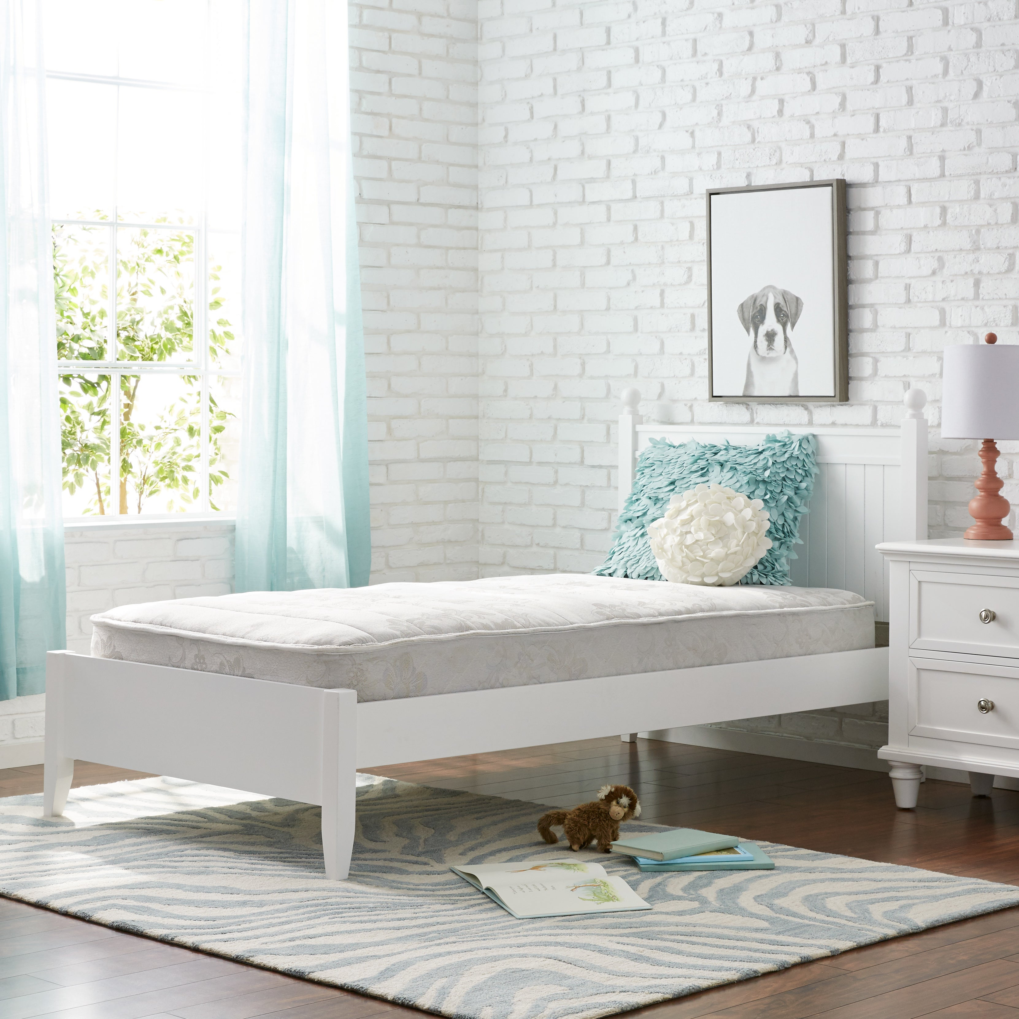 Twin-size Mattress Bed Comfort Quilted Top Mattress Slatted ...