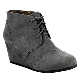 Cityclassified Rex's Women's Lace Up Wedge Dress Ankle Booties