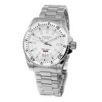 Gucci Men's YA136302 'Dive' White Dial Stainless Steel Swiss Quartz Watch