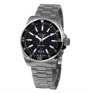 0278d5636d6 Gucci Men s YA136301  Dive  Black Dial Stainless Steel Swiss Quartz Watch