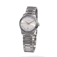 4514213d19e Gucci Women s YA126523  Timeless  Silver Dial Stainless Steel Small Swiss  ...