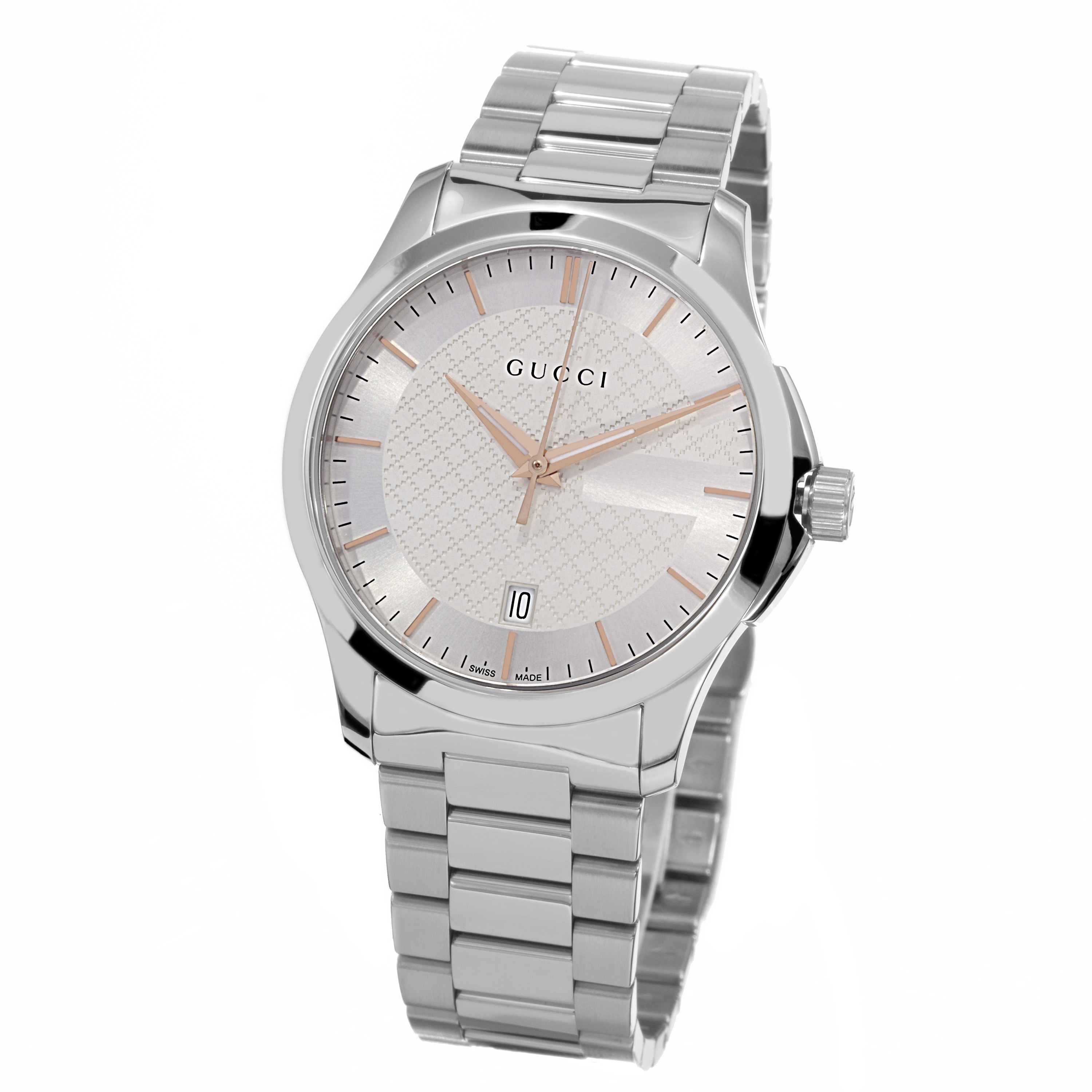 Gucci Women's YA126442 'Timeless' Silver Dial Stainless S...