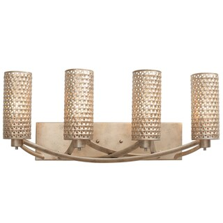 Varaluz Casablanca 4-light Bath Fixture, Zen Gold