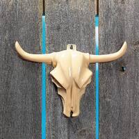 Steer Head Animal Skull Wall Decoration