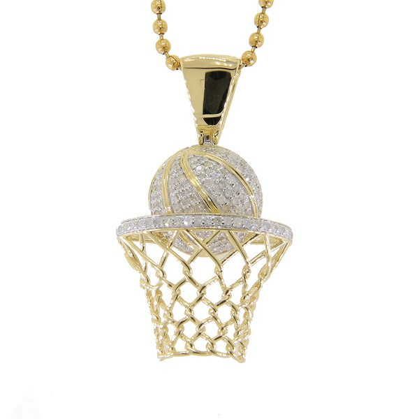 Sterling silver 34ct tdw diamond basketball necklace free sterling silver 34ct tdw diamond basketball necklace mozeypictures Images