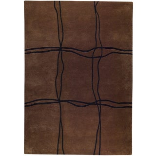 M.A.Trading Hand Tufted New Zealand Wool Amsterdam Brown Indo Area Rug (8'3 x 11'6)