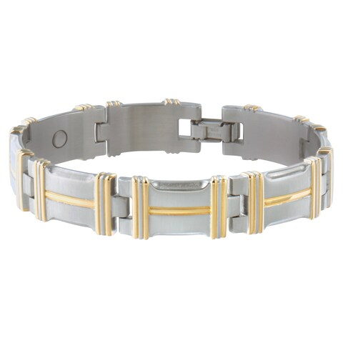 Sabona Executive Beveled Edge Duet Magnetic Bracelet (Large)