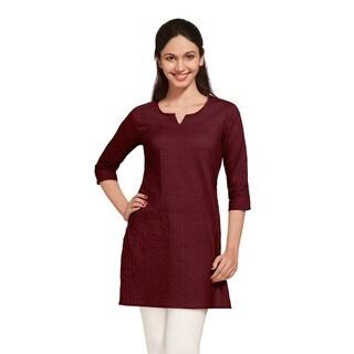 Indian Clothing Women's Pintuck Kurta Tunic (India)