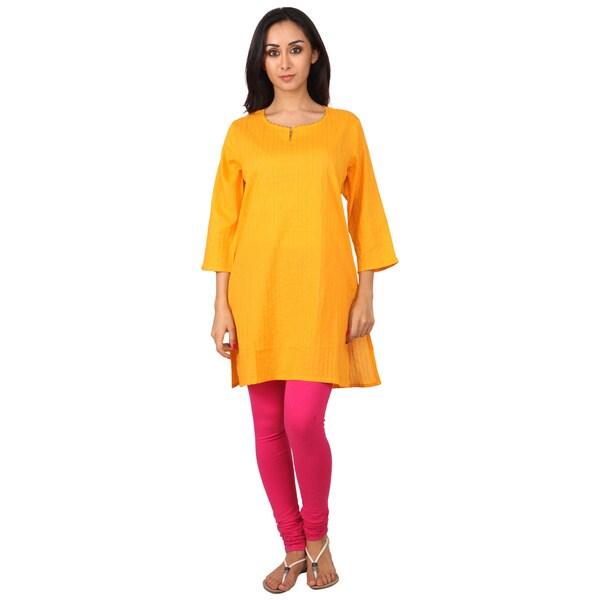 48b76af40d Shop Handmade Indian Clothing Women's Pintuck Plain Kurta Tunic ...