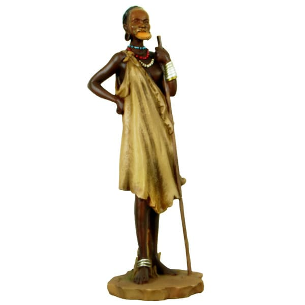 Handmade Mursi Lip-Disc Lady Figurine