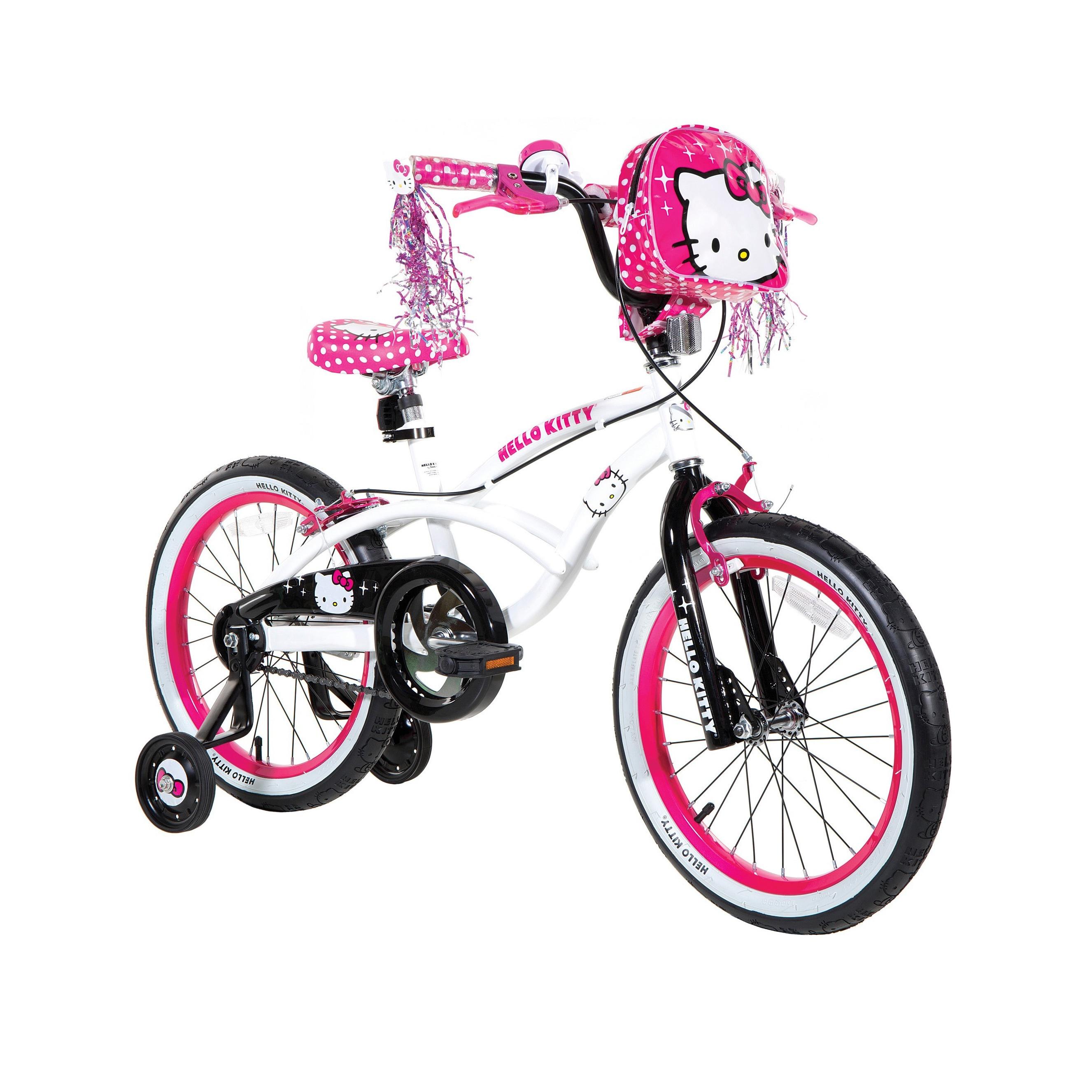 LTD Hello Kitty 18-inch Girls Bike (18'' Hot Pink, White)