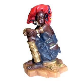 Handmade Peul Woman Figurine
