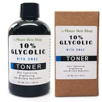 Skin Tightening, Brightening and Wrinkle Reduction - 10-percent Glycolic Acid and DMAE Toner