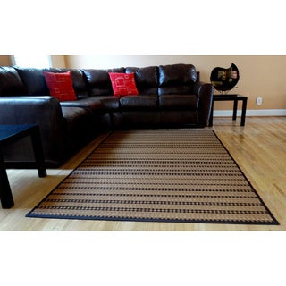 Hand-woven Mocha Latte Rayon from Bamboo Rug (6' x 9')