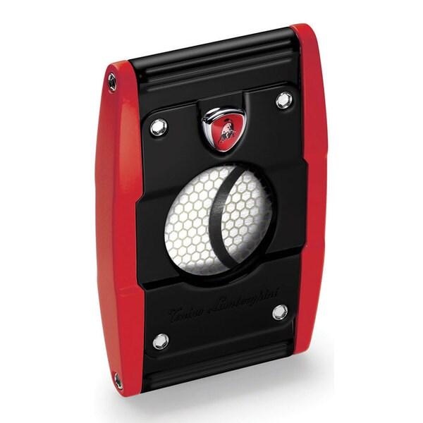 Tonino Lamborghini Precisione Guillotine Cigar Cutter - Black Matte And Red