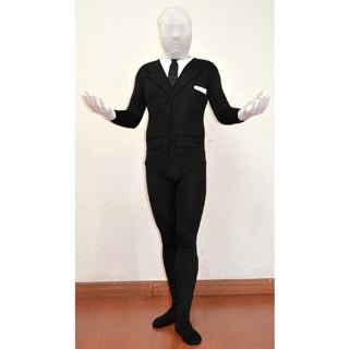 Kids Spandex Body Black Suit Slenderman Costume (3 options available)