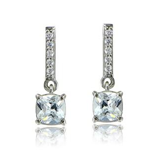 Icz Stonez Sterling Silver Cubic Zirconia Dangling Earrings